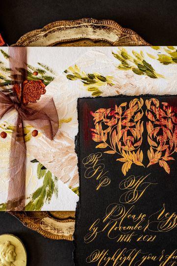 Hand Painted Luxury Invites