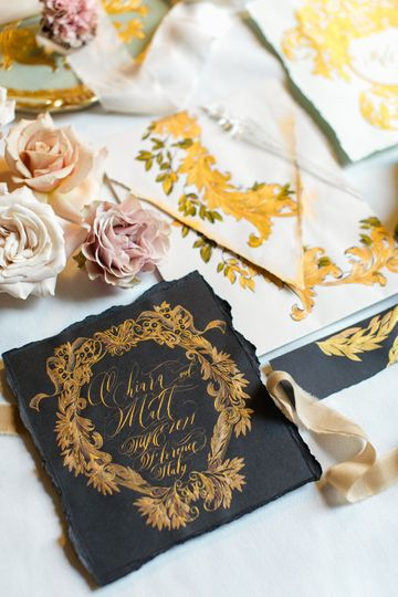 Luxury Hand Painted Invites