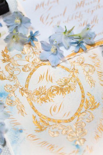 Powder Blue & Gold Detail