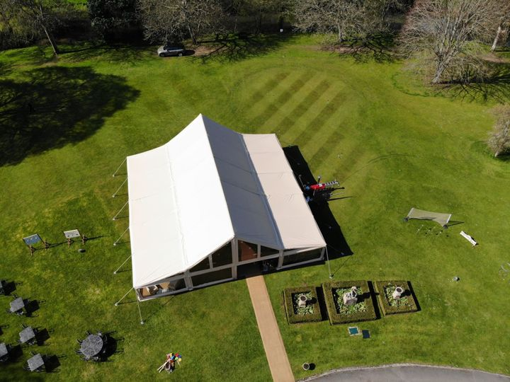 Aerial of our Cruck Tent