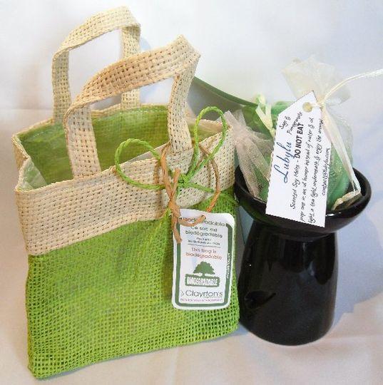 Gift Bag set - bright green