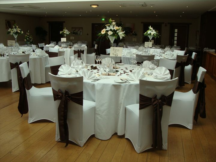 Brown satin reception