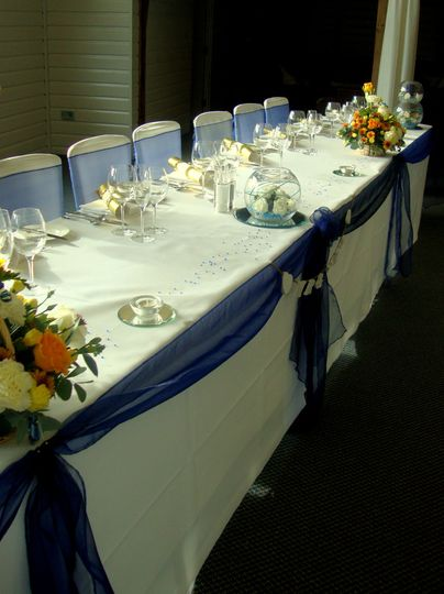 Navy top table
