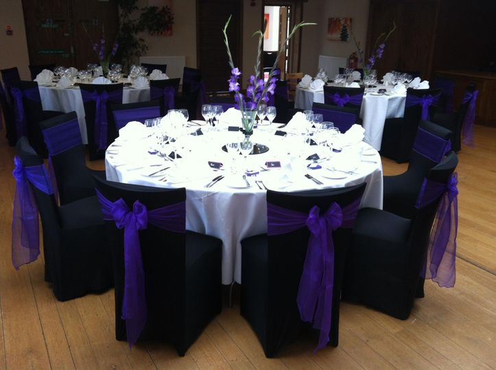 Black and purple reception