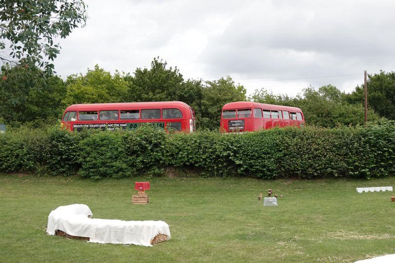 Bus Parking behind Stackyard