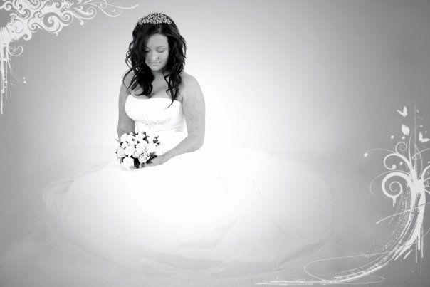 Blk and white bride