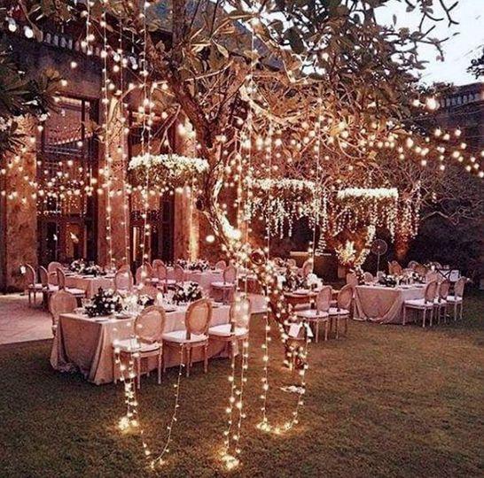 Magical fairy light wedding