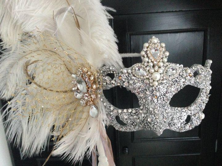 Luxury silver crystal mask