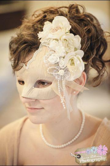 Custom Champagne Silk Mask