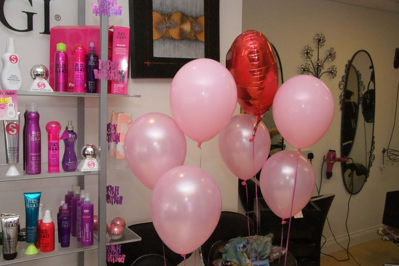 Birthday party in a salon