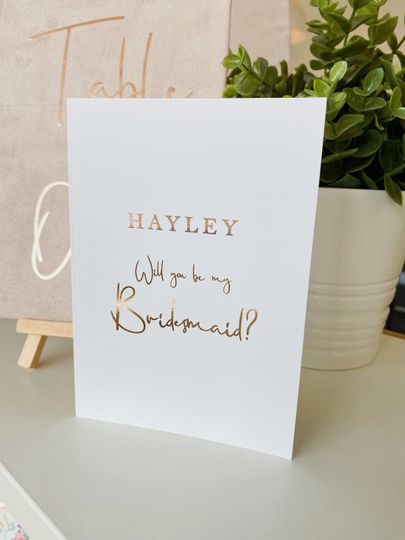 Wedding-party proposal cards