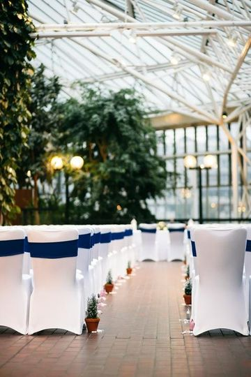 Ceremony on the Conservatory Terrace