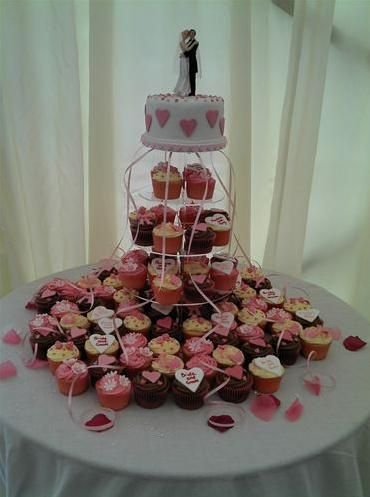 Cupcake tower and cake