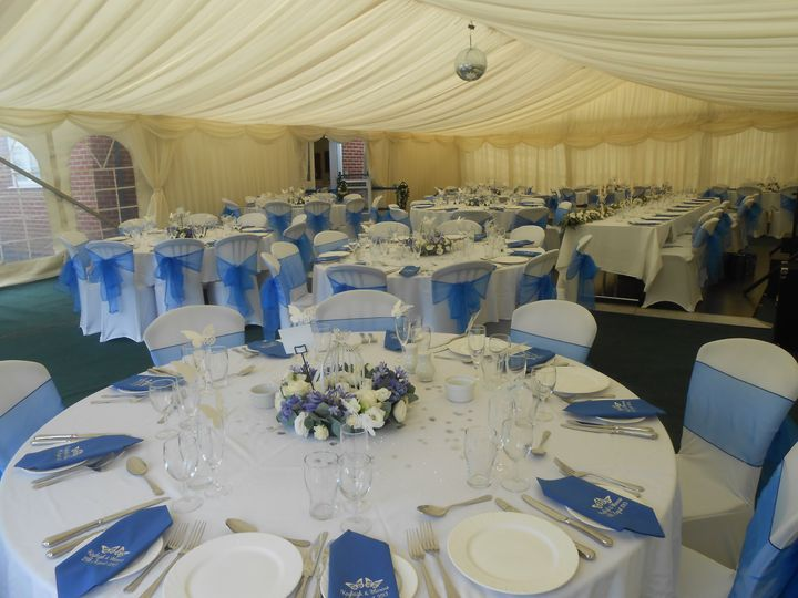 Marquee ready for reception