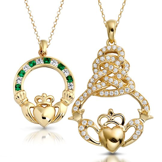 Claddagh Pendants and Necklace