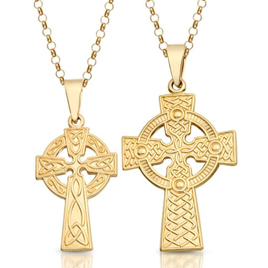 9ct Gold Celtic Crosses