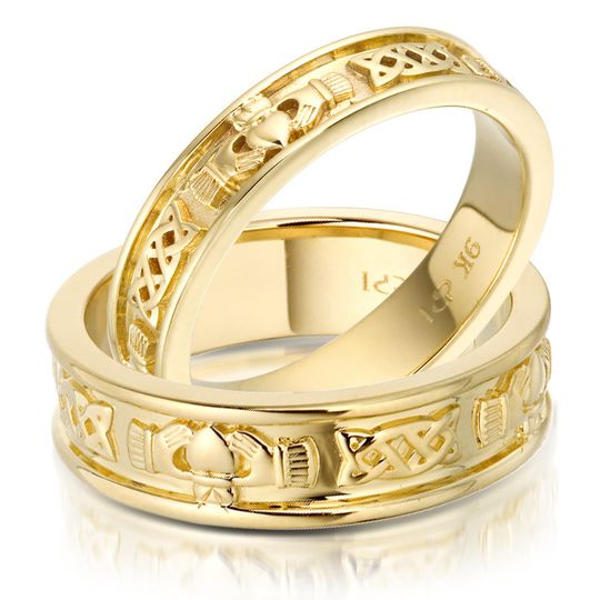 gold claddagh wedding bands 4 166269