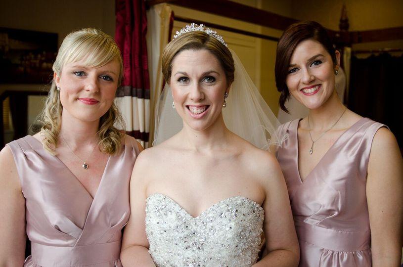 Bride and bridesmaids