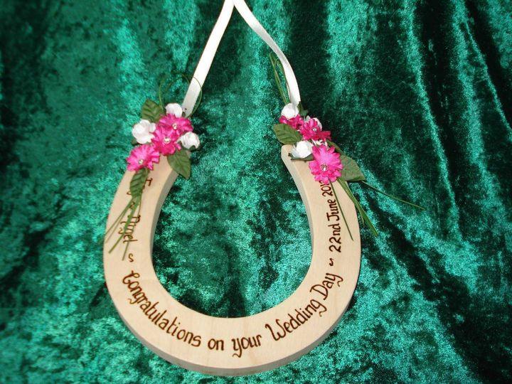 Customised Wedding Horseshoe