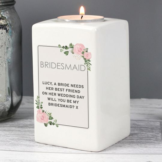 Personalised tealight for weddings