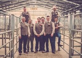 Groomsmen in the Cattle Pens