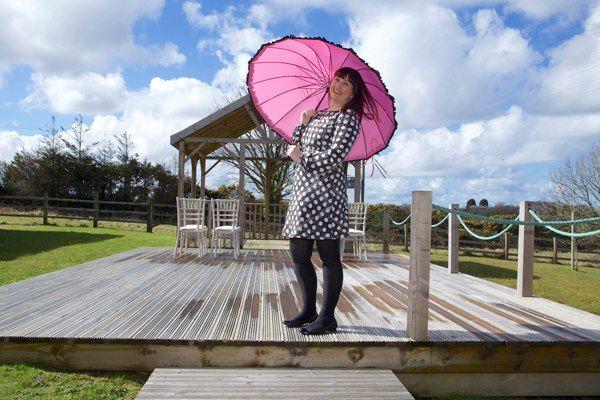 Pink burlesque umbrella