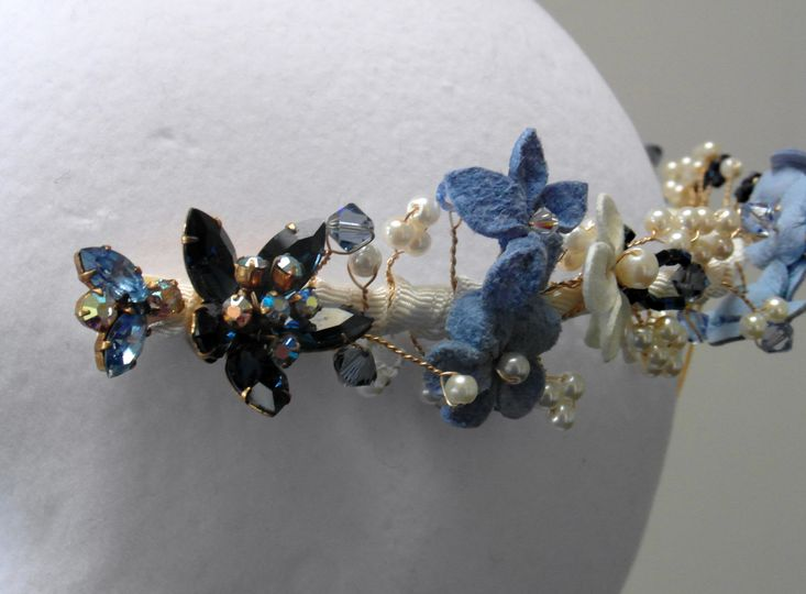 Flower & bead headband