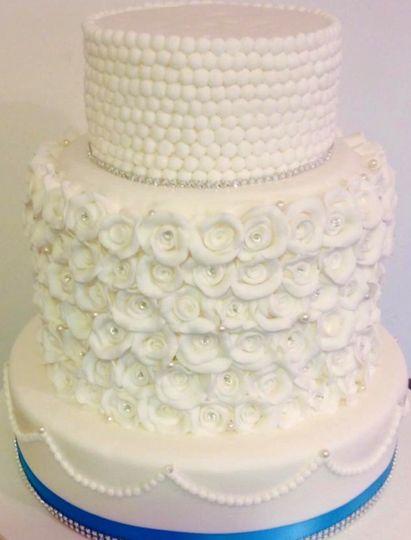 High tower wedding cake
