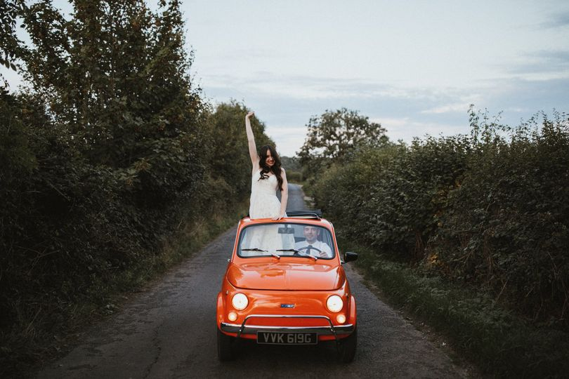 Orange vintage Fiat