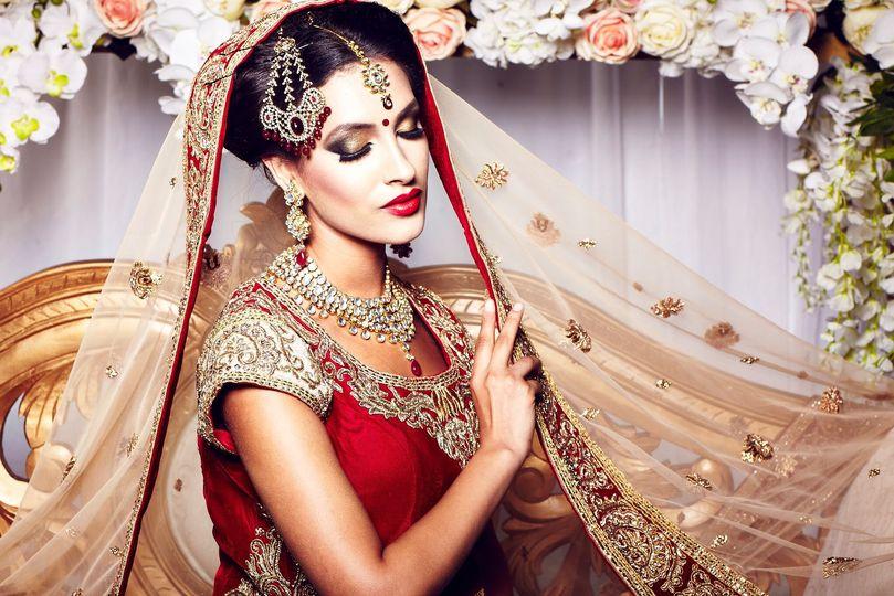 Elegant makeup and stylish hair