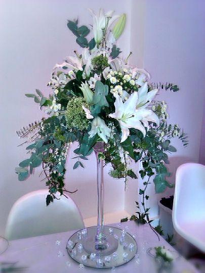 Fresh flower martini vase