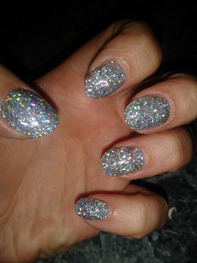 Glitter Nail extensions