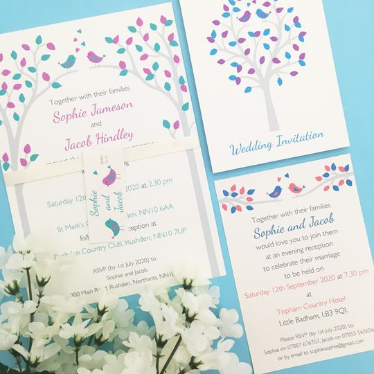 Bird wedding design