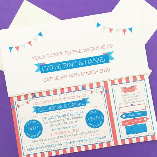 Circus Festival ticket invite