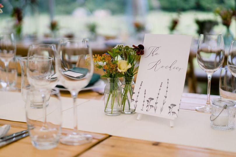 Wedding table setup detail