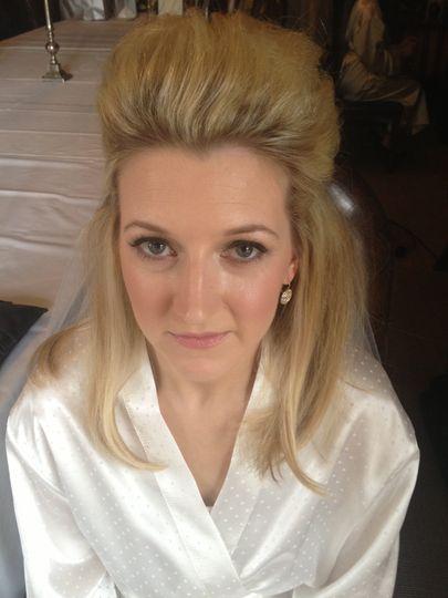 Radiant bridal makeup