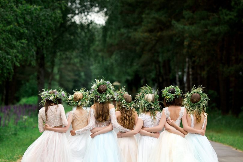 Boho-chic floral crowns