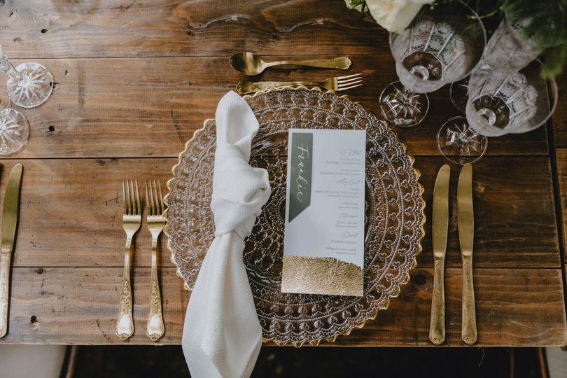 Gold leaf menus