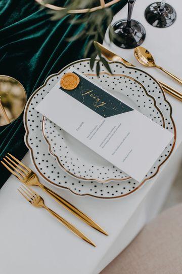 Luxury menus