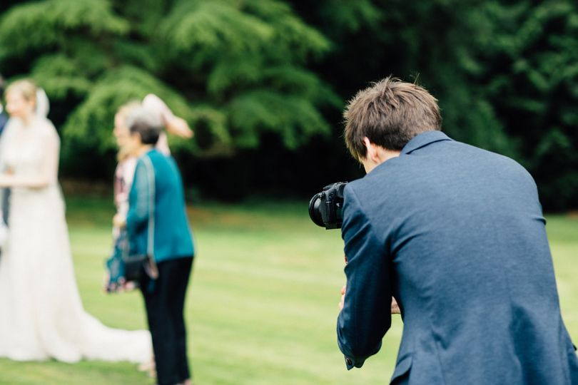 Behind the scenes on a wedding