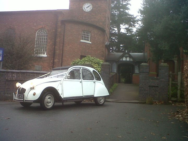 The White Citroen 2CV at Church