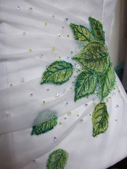 Detail of leaf bodice