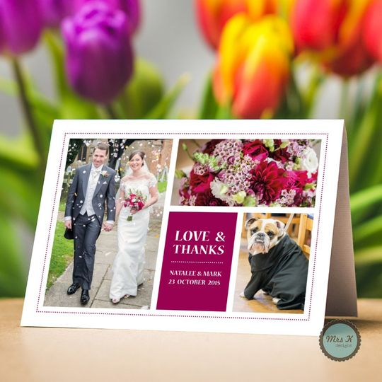 Mult Photo Thank You Card