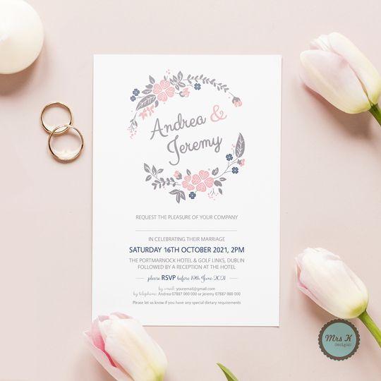 Floral Elegance Wedding Invite