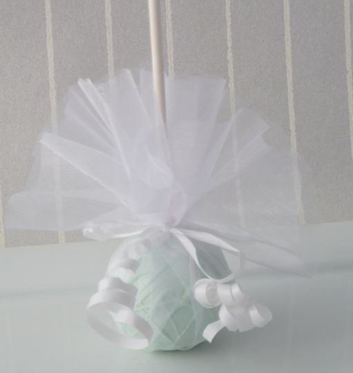 Netted cake pop favour