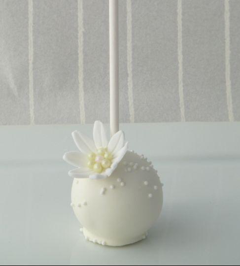Upside down daisy cake pop
