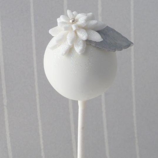 White & Silver cake pop favour