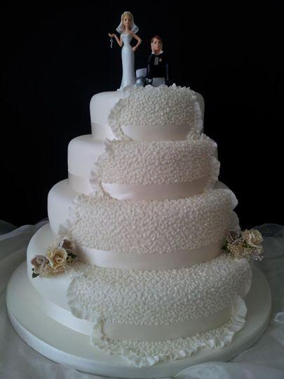 4 Tier fruit and sponge cake
