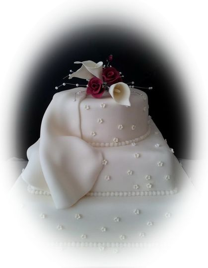 3 Tier with Iced Lilly spray