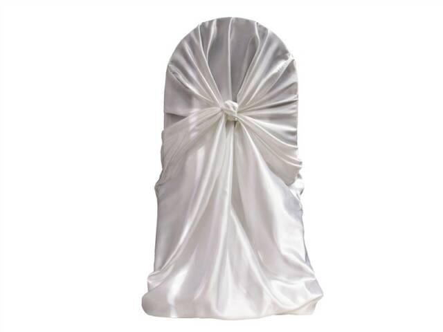 Self tie satin chair cover